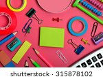 office and school supplies on... | Shutterstock . vector #315878102
