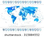 higly detailed world map in... | Shutterstock .eps vector #315884552
