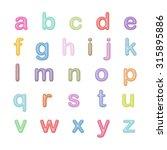 vector alphabet   simple letters | Shutterstock .eps vector #315895886