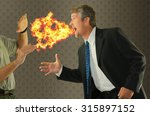 bad breath chronic halitosis... | Shutterstock . vector #315897152