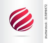 abstract vector sign in sphere... | Shutterstock .eps vector #315898472