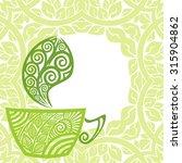 green tea vector illustration | Shutterstock .eps vector #315904862