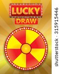 lucky draw typographic on...
