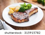 pork chop with vegetable in... | Shutterstock . vector #315915782