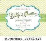 baby shower invitation  | Shutterstock .eps vector #315917696