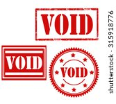 set of stamps with text void... | Shutterstock .eps vector #315918776