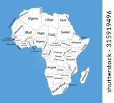 guinea bissau vector map... | Shutterstock .eps vector #315919496