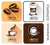 coffee icons illustration... | Shutterstock .eps vector #315920912