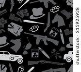 mafia criminal black symbols... | Shutterstock .eps vector #315925928
