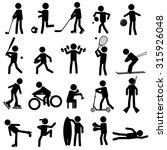 sport silhouettes black simple... | Shutterstock .eps vector #315926048