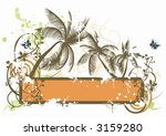 illustration of a grungy frame... | Shutterstock .eps vector #3159280