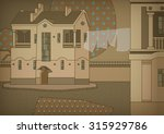 decorative cityscape with a... | Shutterstock .eps vector #315929786