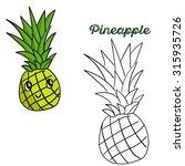 pineapple   baby learning  ... | Shutterstock .eps vector #315935726