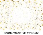 golden confetti | Shutterstock .eps vector #315940832