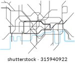 london underground subway map  | Shutterstock .eps vector #315940922