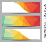 set of abstract banners from... | Shutterstock .eps vector #315941765