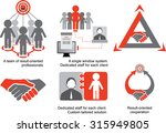 red grey logistics icons. a... | Shutterstock .eps vector #315949805