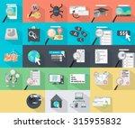 seo marketing icons | Shutterstock .eps vector #315955832