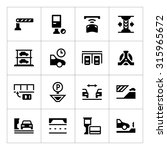 set icons of parking isolated...   Shutterstock .eps vector #315965672
