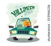 happy halloween card ...   Shutterstock .eps vector #315966236