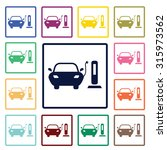 electric car icon | Shutterstock .eps vector #315973562