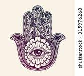 hamsa  hand of fatima  vector... | Shutterstock .eps vector #315976268