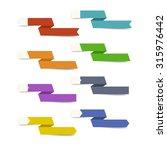 different designs ribbon... | Shutterstock . vector #315976442