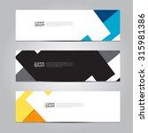 vector design banner background.   Shutterstock .eps vector #315981386