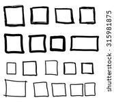 set hand drawn square  felt tip ... | Shutterstock .eps vector #315981875