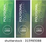 vertical  polygonal banners   Shutterstock .eps vector #315985088