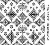 ethnic tribal art seamless...   Shutterstock .eps vector #315987512