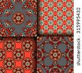 vector seamless pattern set... | Shutterstock .eps vector #315995432