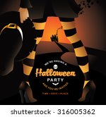 witch halloween party... | Shutterstock .eps vector #316005362