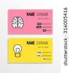 brain  idea business card... | Shutterstock .eps vector #316005416