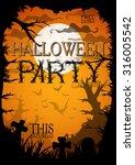 night halloween a4 format ... | Shutterstock .eps vector #316005542