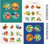 modern geometric design... | Shutterstock .eps vector #316006616