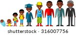 all age group of african... | Shutterstock .eps vector #316007756