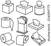 vector set of tissue paper | Shutterstock .eps vector #316009775