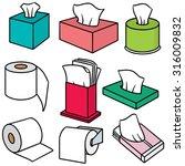 vector set of tissue paper | Shutterstock .eps vector #316009832