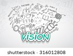 vision text  with creative... | Shutterstock .eps vector #316012808
