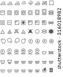 laundry icons collection black... | Shutterstock .eps vector #316018982