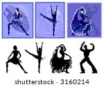 people dance | Shutterstock .eps vector #3160214