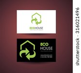 eco home and real estate logo... | Shutterstock . vector #316021496