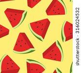 vector watermelon pattern | Shutterstock .eps vector #316024532