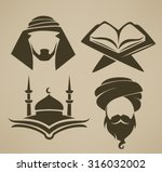 islam icons symbols and logo ... | Shutterstock .eps vector #316032002