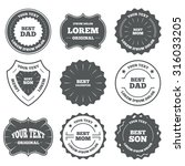vintage emblems  labels. best... | Shutterstock .eps vector #316033205