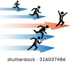 businessman stand out from the... | Shutterstock .eps vector #316037486