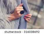 fashion and style girl holding... | Shutterstock . vector #316038692
