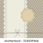 cute baby shower card with copy ... | Shutterstock .eps vector #316039466