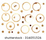 coffee stains vector | Shutterstock .eps vector #316051526